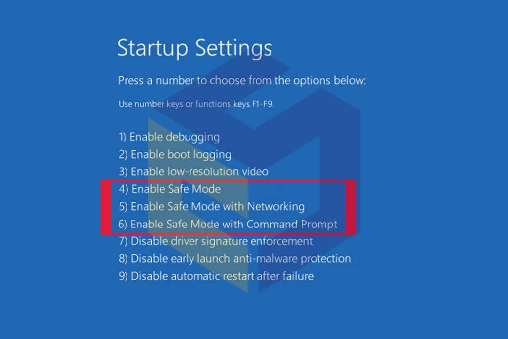 آموزش دسترسی به safe mode در ویندوز 10