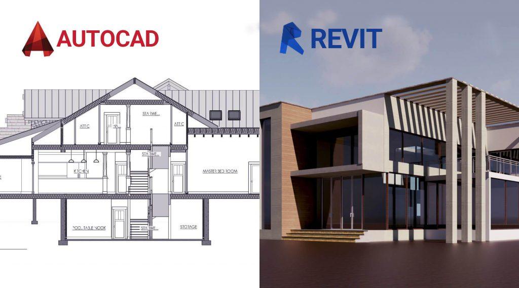 تفاوت میان نرم افزار های revit و Autocad در چیست ؟