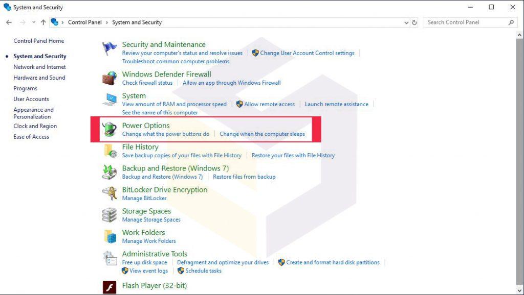 فعال کردن قابلیت هایبرنیت در ویندوز 10