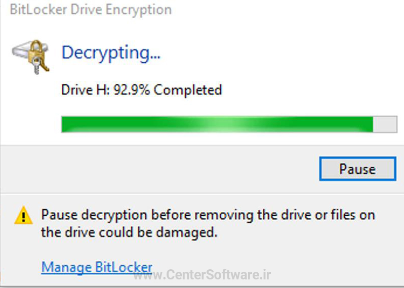 how to decrypt flash memory and hard drive with BitLocker