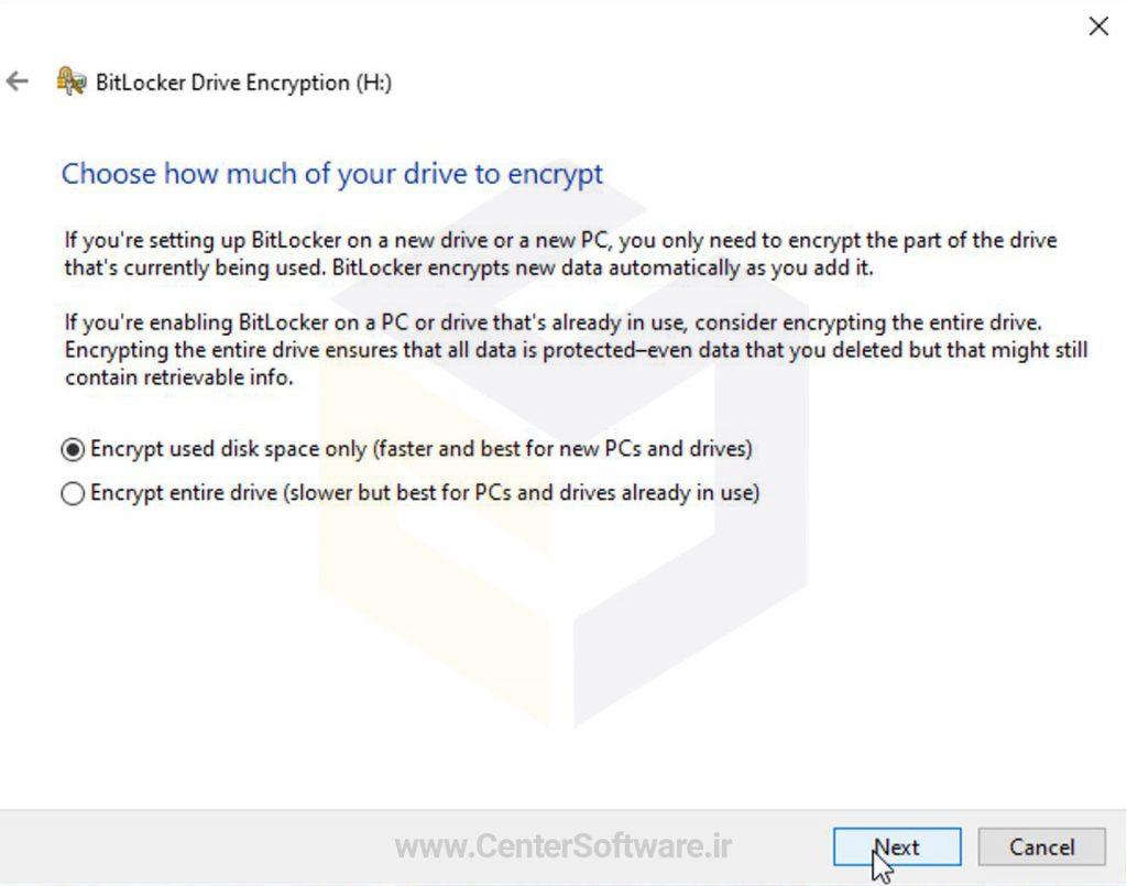بهترین روش رمزگذاری فلش و هارد در ویندوز 10