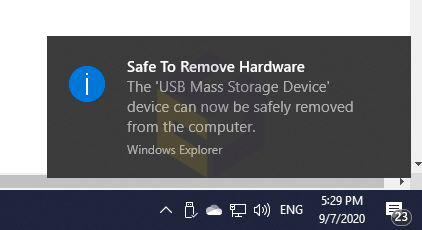 جدا کردن دستگاه USB از رایانه بدون استفاده از safely remove