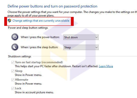 مشکل خاموش نشدن فن و چراغ پاور ویندوز 10
