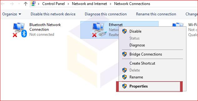 شبکه کردن دو کامپیوتر با کابل LAV در ویندوز 10
