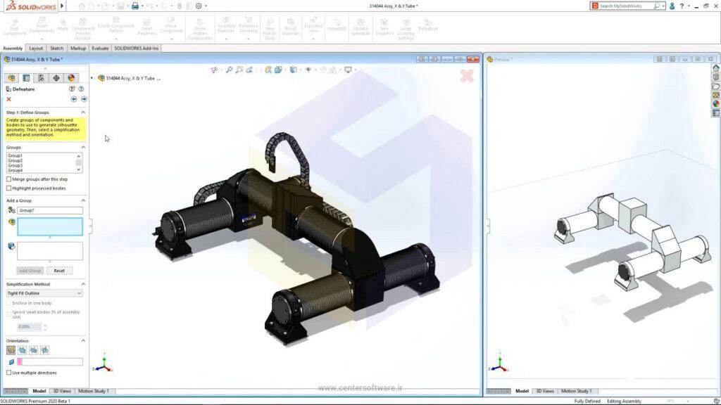 طراحی سریعتر مونتاژ در نرم افزار سالید ورک 2020