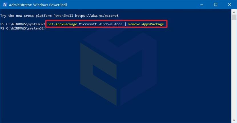 حل مشکل مایکروسافت استور از طریق نصب مجدد