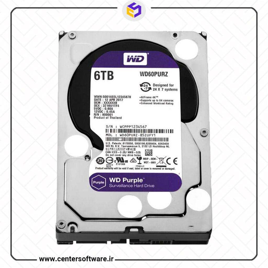 خرید هارد دیسک وسترن دیجیتال 6 ترابایت بنفش
